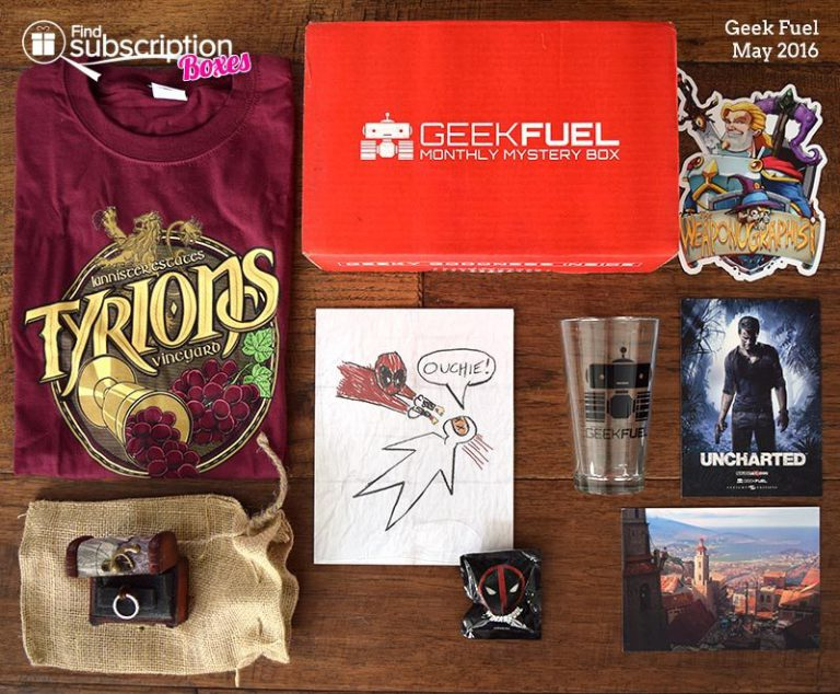 Geek Fuel May 2016 Box Review - Box Contents