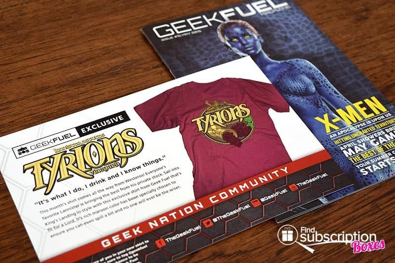 Geek Fuel May 2016 Box Review - Magazine and Card