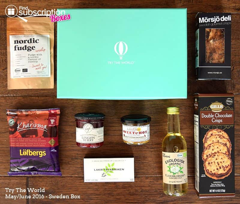 May/ June 2016 Try The World Sweden Box Review - Box Contents