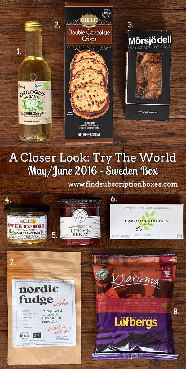 May/ June 2016 Try The World Sweden Box Review - Inside the Box