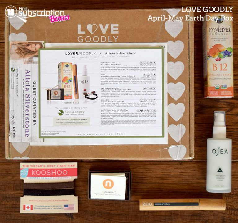 LOVE GOODLY Review - April - May 2016 Earth Day Box - Box Contents