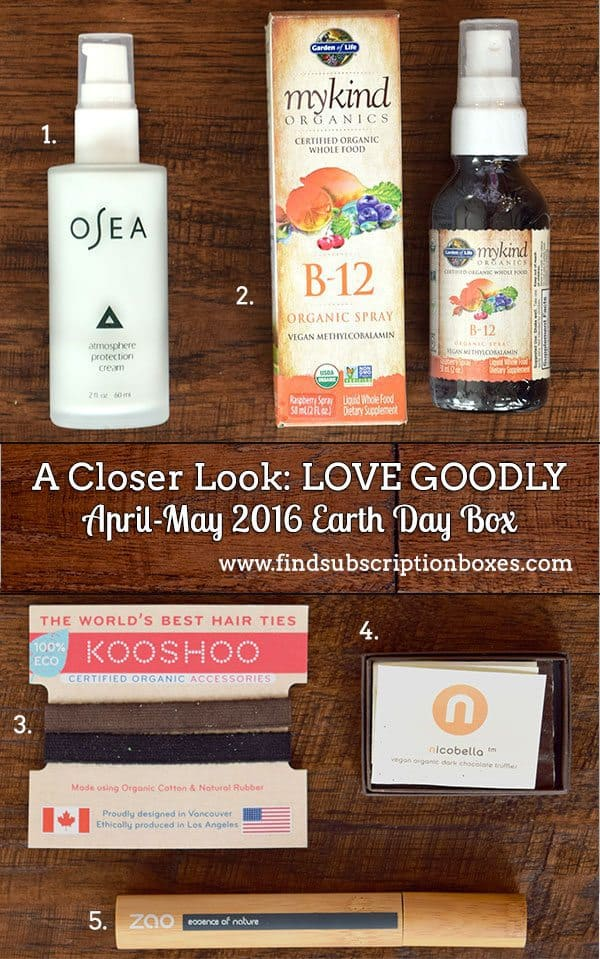 LOVE GOODLY Review - April - May 2016 Earth Day Box - Inside the Box