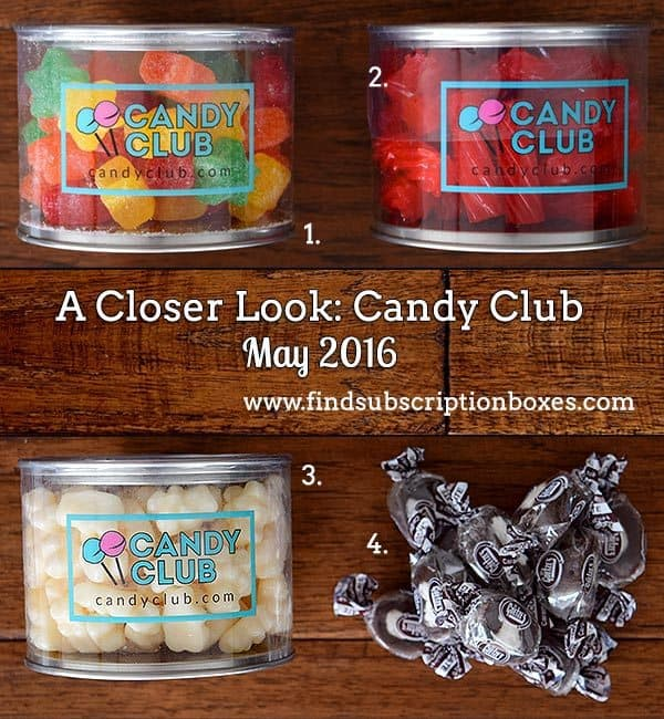 May 2016 Candy Club Review - Inside the Box
