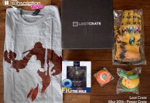 May 2016 Loot Crate Review - Power Crate - Box Contents