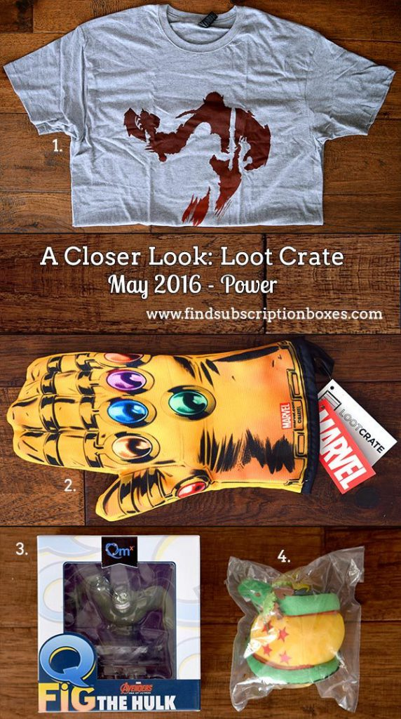 May 2016 Loot Crate Review - Power Crate - Inside the Box