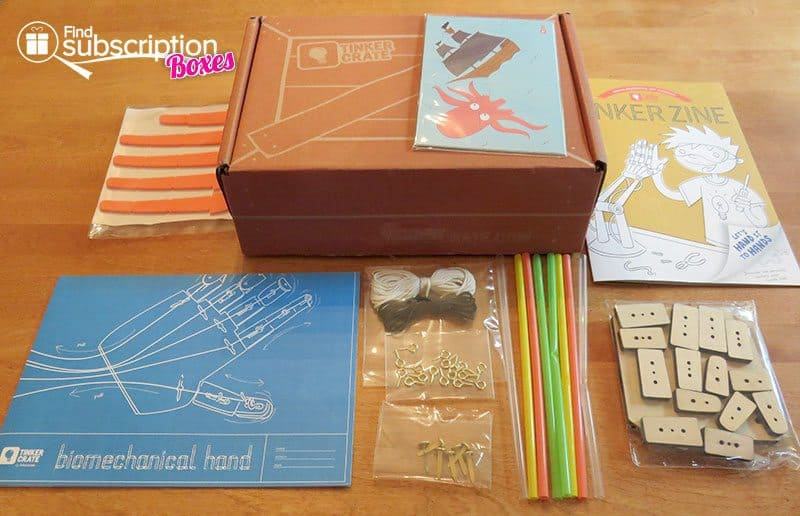 Tinker Crate April 2016 Review - Inside the Box