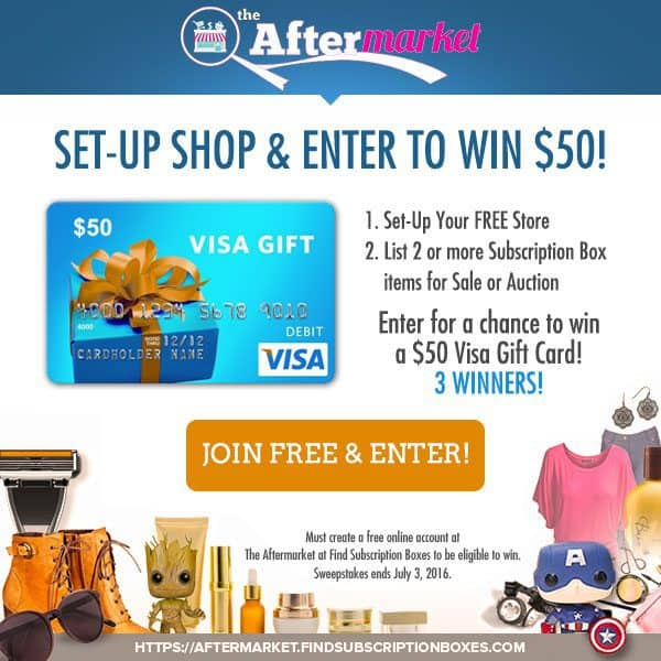 Aftermarket New Seller Sweepstakes