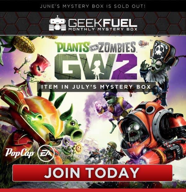 Geek Fuel July 2016 Box Spoiler - Plants vs Zombies:GW2