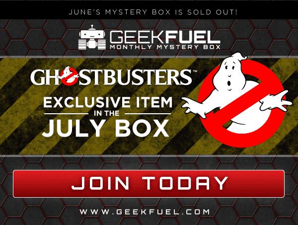 Geek Fuel July 2016 Box Spoiler - Ghostbusters