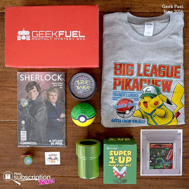 June 2016 Geek Fuel Review - Box Contents