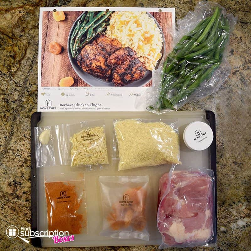 Home Chef May 2016 Review - Berbere Chicken Thighs Ingredients