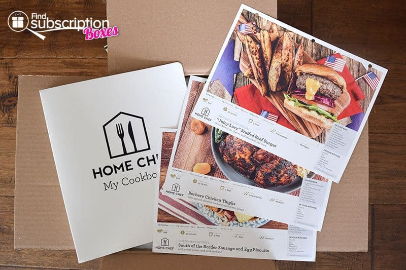 Home Chef May 2016 Review - Recipe Cards