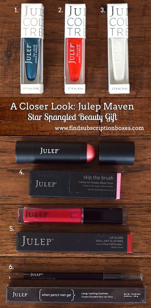 Julep Maven Star Spangled Beauty Gift Review - Inside the Box