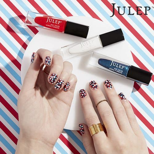 Julep Maven Nail Art Inspiration - Patriotic Dots