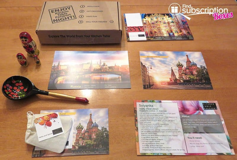 June 2016 Kitchen Table Passport - Inside the Box