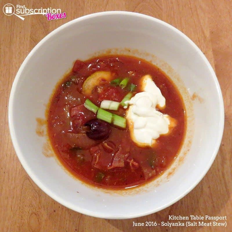 June 2016 Kitchen Table Passport - Solyanka