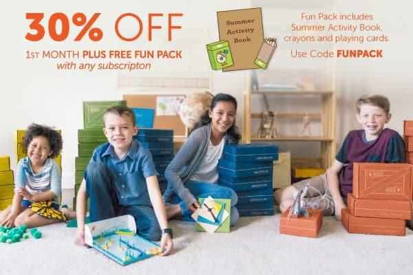 Kiwi Crate - 30% Off + Free Gift