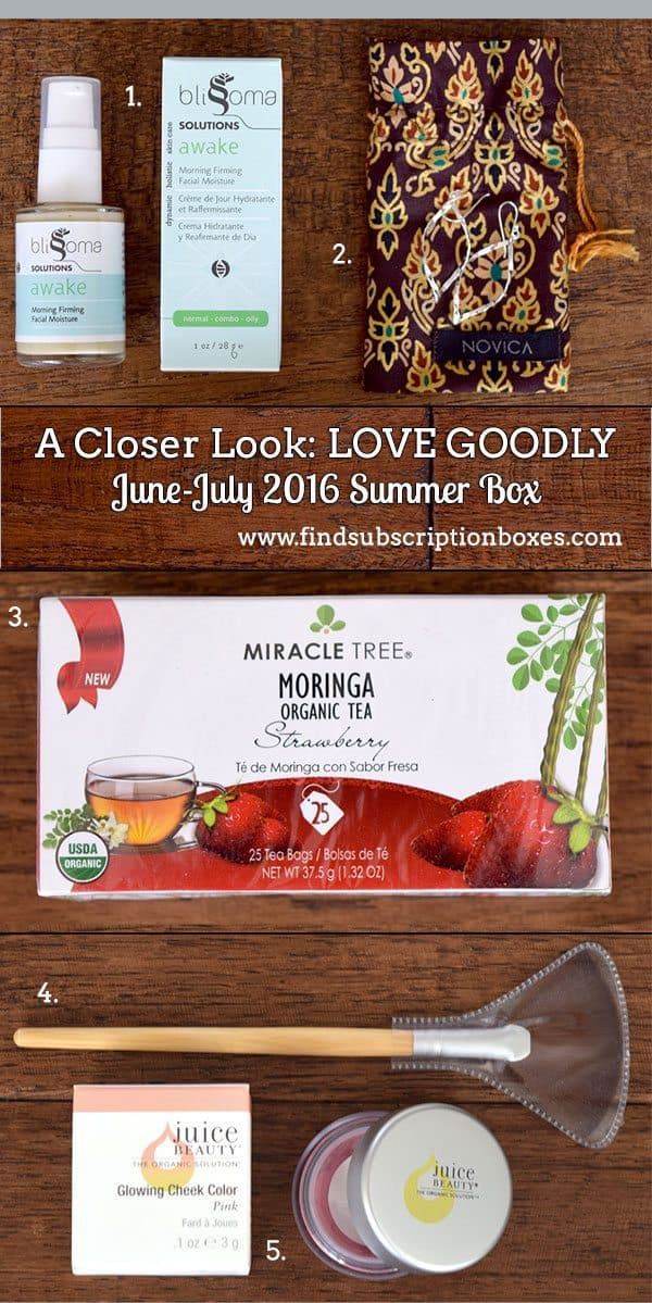 June-July 2016 LOVE GOODLY Review - Inside the Box