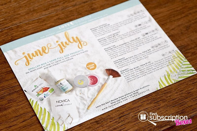 June-July 2016 LOVE GOODLY Review - Product Card