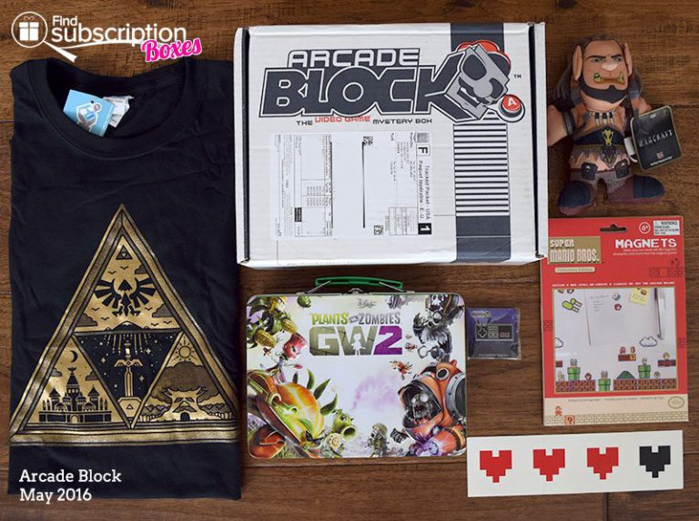 May 2016 Arcade Block Review - Box Contents