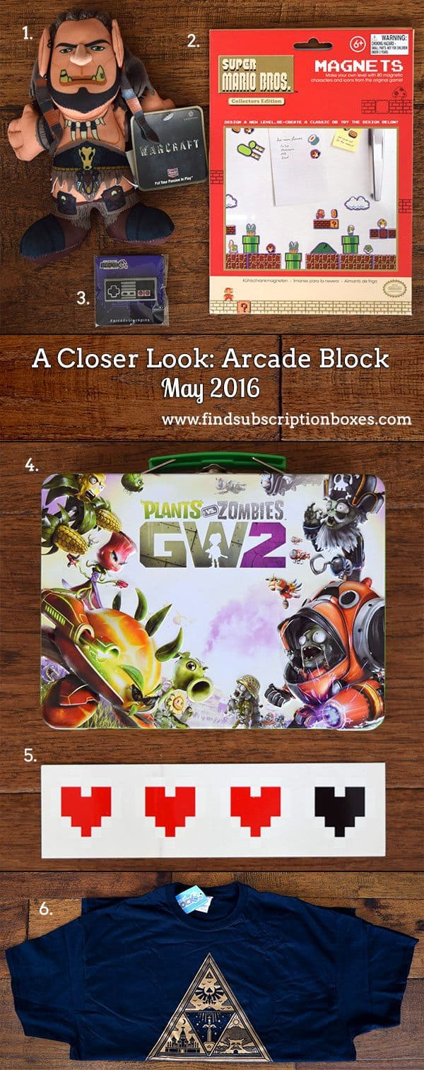 May 2016 Arcade Block Review - Inside the Box