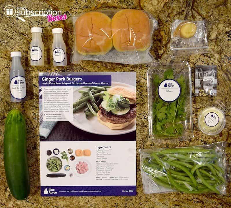 Blue Apron June 2016 Review - Ginger Pork Burger Ingredients