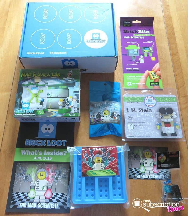Brick Loot June 2016 Review - Box Contents