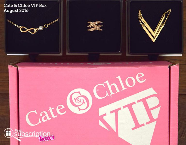 Cate & Chloe August 2016 VIP Box Review - Box Contents