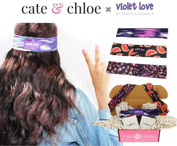 Cate & Chloe August 2016 VIP Box Review - Violet Love Headbands