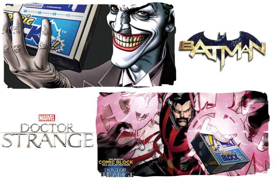 Comic Block July 2016 Box Spoilers - Batman & Dr. Strange