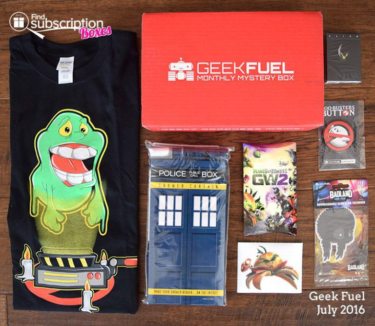 July 2016 Geek Fuel Review - Box Contents