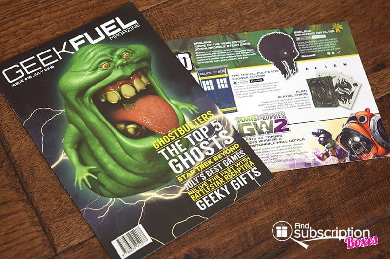 July 2016 Geek Fuel Review - Magazine and Card
