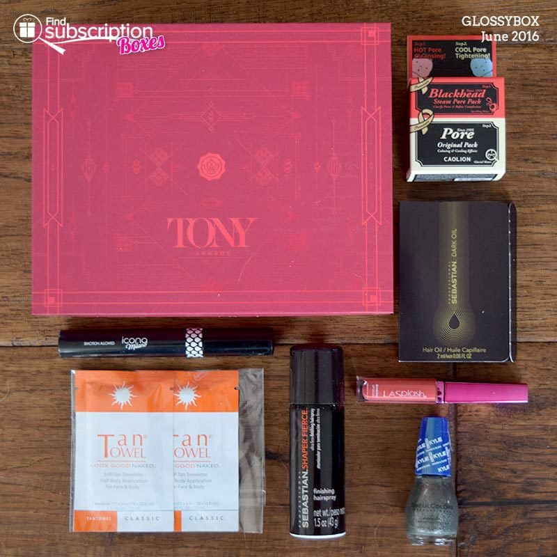 June 2016 GLOSSYBOX Review - Box Contents