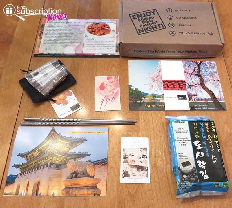 Kitchen Table Passport July 2016 Review - Korea - Box Contents