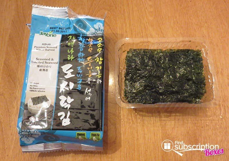 Kitchen Table Passport July 2016 Review - Korea - Seaweed