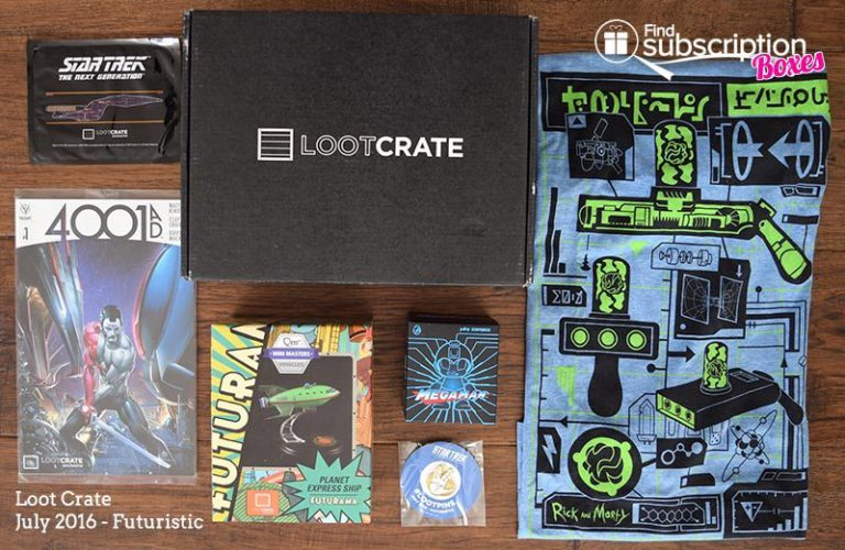 July 2016 Loot Crate Review - Futuristic Crate - Box Contents