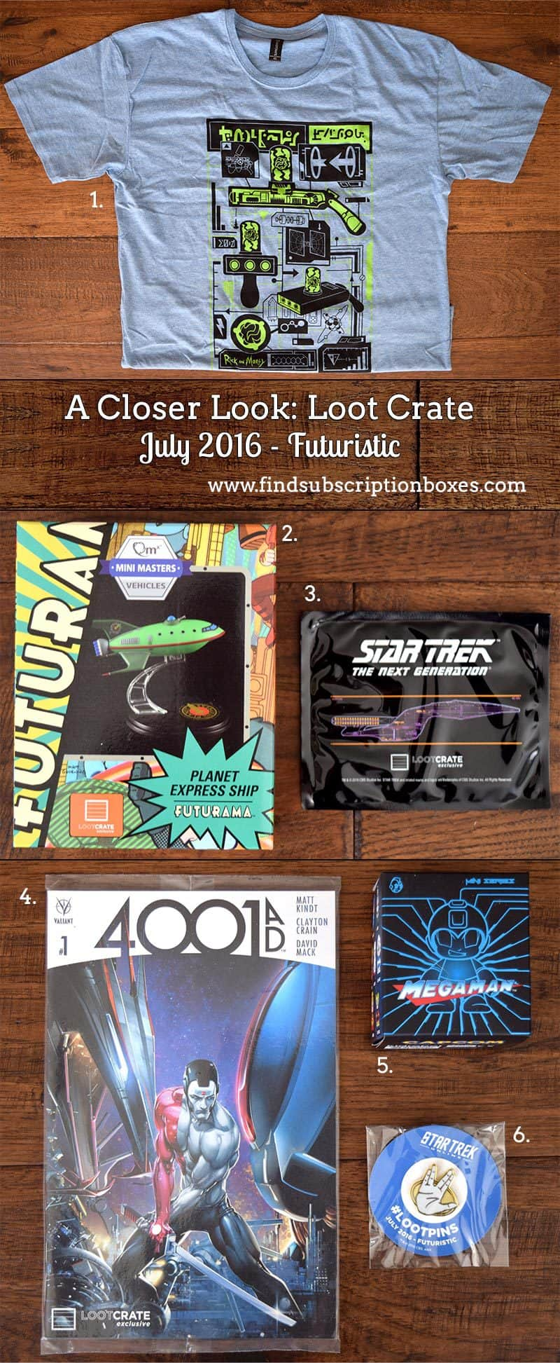 July 2016 Loot Crate Review - Futuristic Crate - Inside the Box