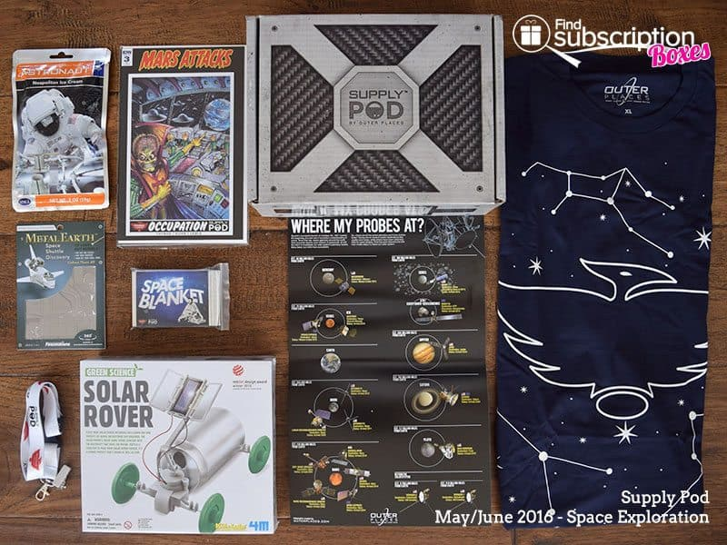 Supply Pod June 2016 Review - Space Exploration - Box Contents