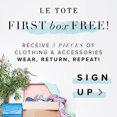 Le Tote : 1st Tote Free