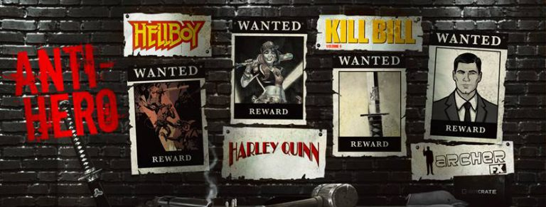 Loot Crate August 2016 Box Theme - Anti-Hero