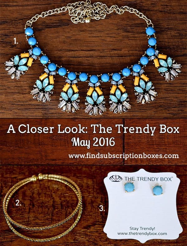 May 2016 The Trendy Box Review - Inside the Box
