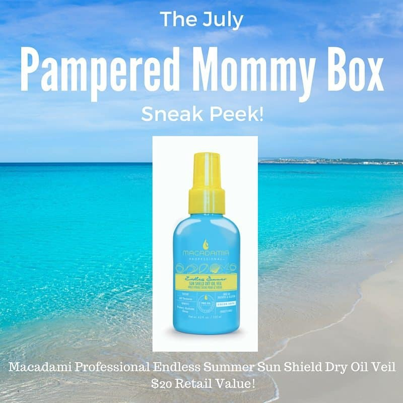 July 2016 Pampered Mommy Box Spoiler - Macadamia Professional Dry Oil