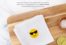 POPSUGAR Must Have Box July 2016 Box Spoiler - House of Pom Emoji Napkins
