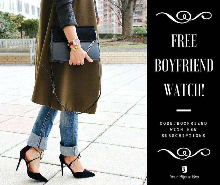 Your Bijoux Box - Free Boyfriend Watch with New Subscription