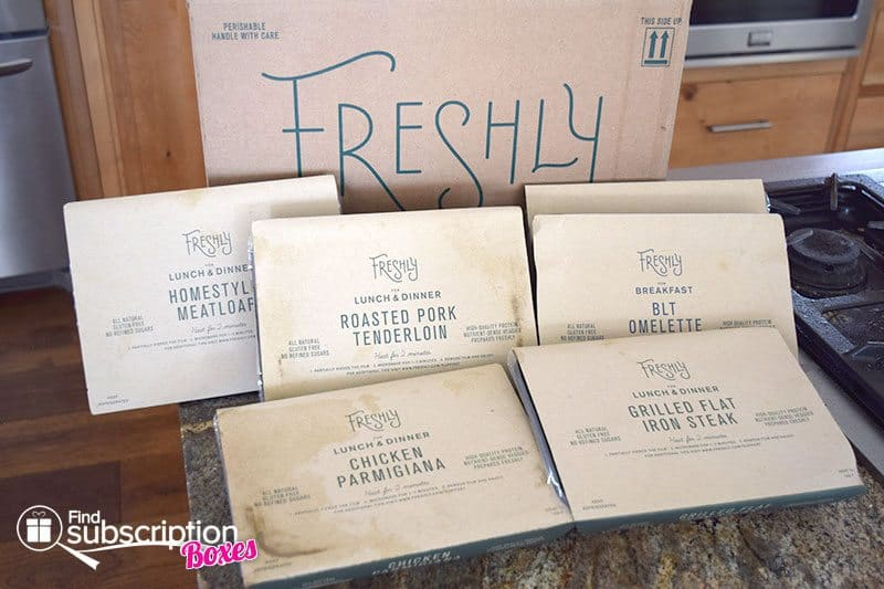 August 2016 Freshly Review - Box Contents