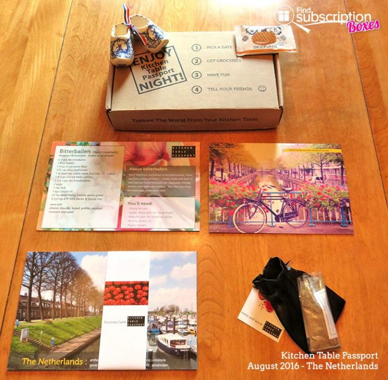 August 2016 Kitchen Table Passport - Box Contents