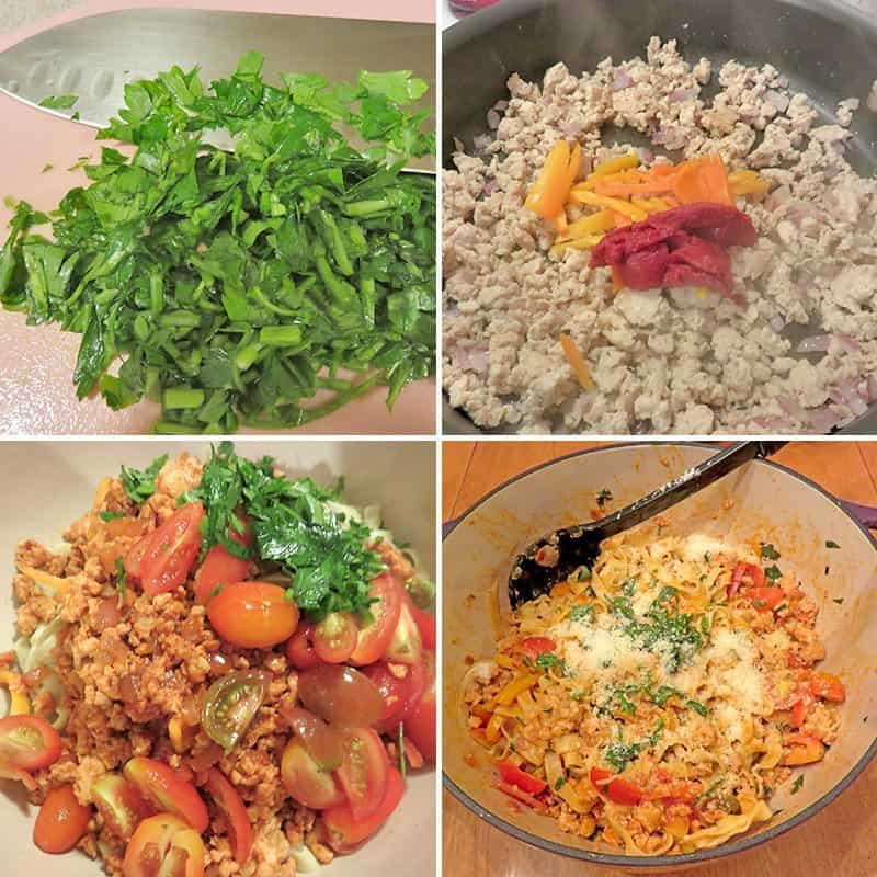 Blue Apron August 2016 Review - Week 3 - Chicken Cherry Tomato Bolognese