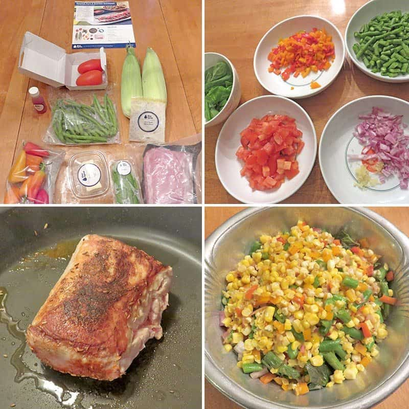 Blue Apron August 2016 Review - Week 3 - Cooking Roast Pork & Summer Souccotash
