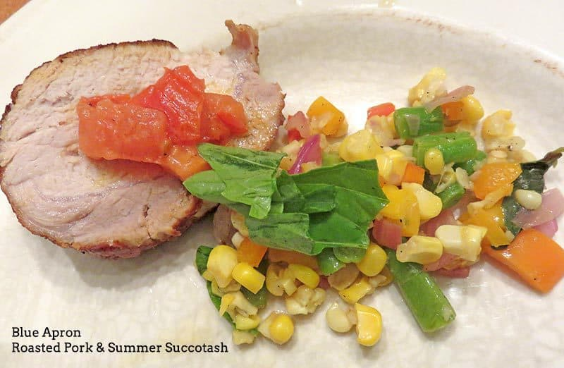 Blue Apron August 2016 Review - Week 3 - Roast Pork & Summer Souccotash