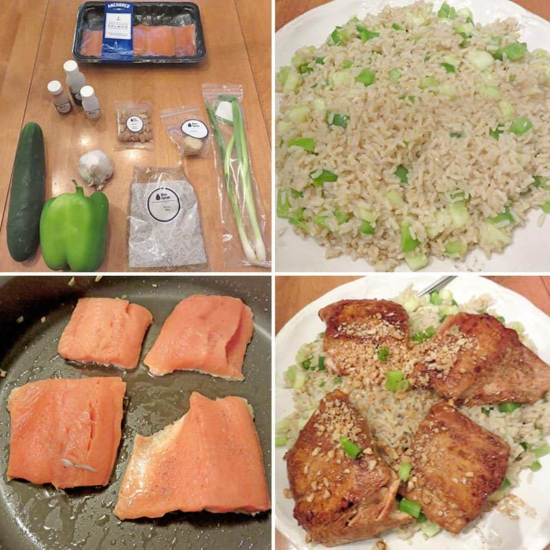 Blue Apron August 2016 Review - Week 3 - Teriyaki-Glazed Salmon